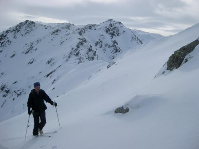 Foto: Wolfgang Lauschensky / Ski Tour / Gressenstein 2216m / in Kammnähe - im Hintergrund das Sonnenjoch / 10.01.2010 12:23:44