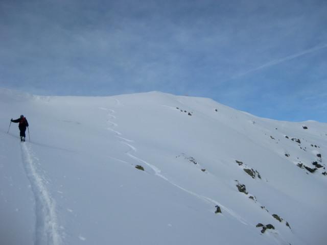 Foto: Wolfgang Lauschensky / Ski Tour / Gressenstein 2216m / Gipfelhang / 10.01.2010 12:23:34