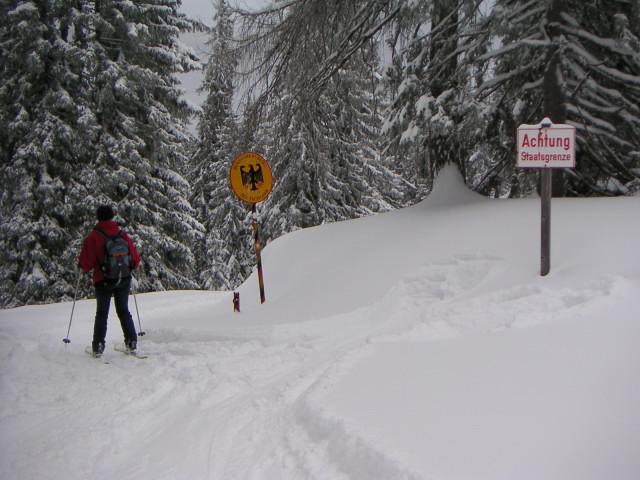 Foto: Wolfgang Lauschensky / Ski Tour / Fellhorn 1764m (von Seegatterl aus) / 'gefährliche' Grenzüberschreitung / 10.01.2010 18:40:24