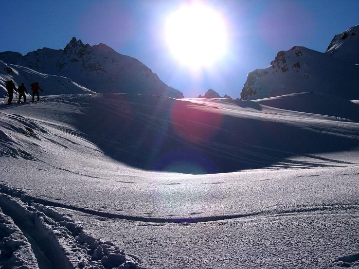 Foto: Andreas Koller / Skitour / Durch das Bieltal auf den Rauen Kopf (3101 m) / 26.01.2010 00:29:22