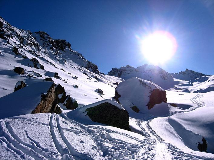 Foto: Andreas Koller / Skitour / Durch das Bieltal auf den Rauen Kopf (3101 m) / 26.01.2010 00:28:10