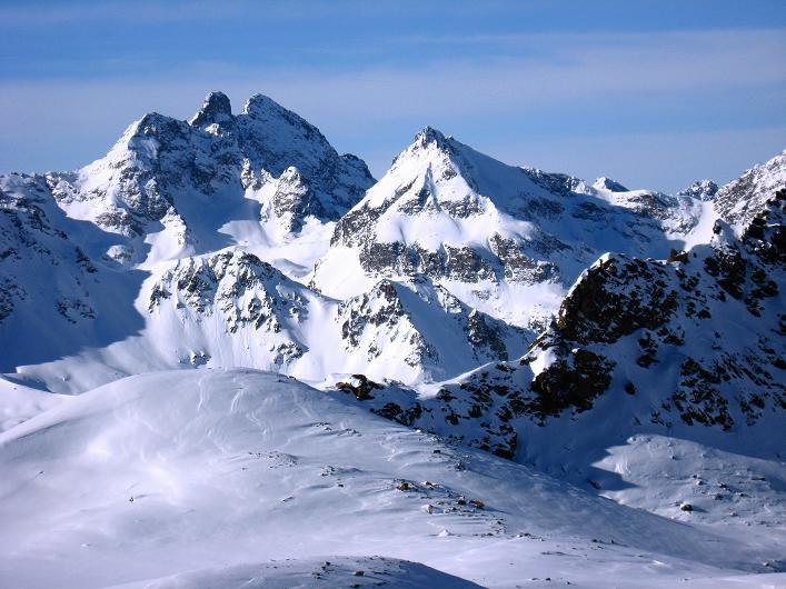 Foto: Andreas Koller / Skitour / Durch das Bieltal auf den Rauen Kopf (3101 m) / Großes Seehorn (3121 m) und Litzner (3109 m) / 26.01.2010 00:24:20
