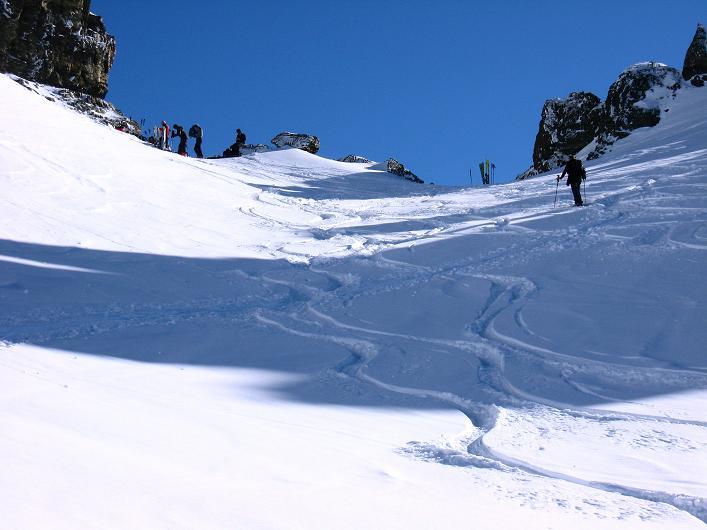 Foto: Andreas Koller / Skitour / Durch das Bieltal auf den Rauen Kopf (3101 m) / Raukopf-Scharte / 26.01.2010 00:20:56