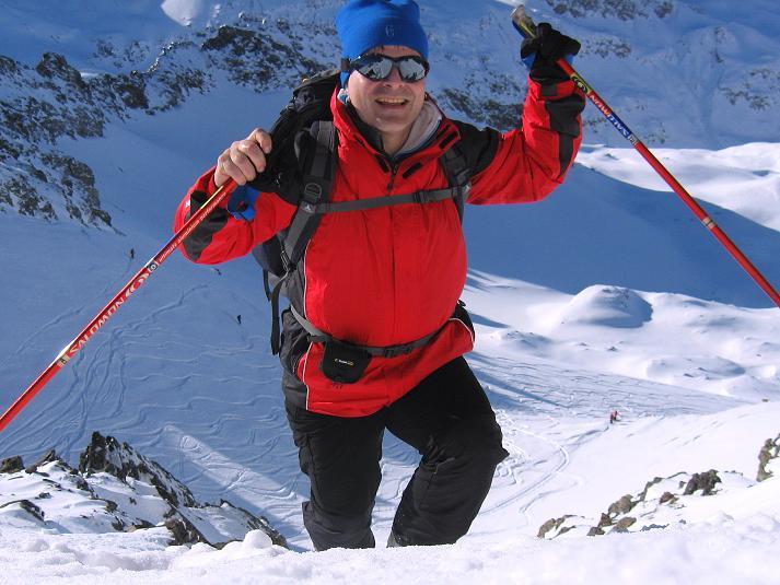 Foto: Andreas Koller / Skitour / Durch das Bieltal auf den Rauen Kopf (3101 m) / Abstieg am S-Grat / 26.01.2010 00:17:21