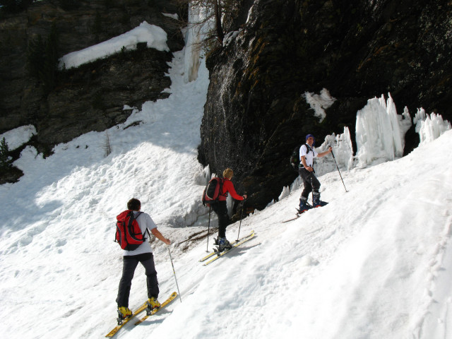 Foto: Wolfgang Lauschensky / Skitour / Zufallspitze – Monte Cevedale : Überschreitung / kurze Steilstufe nach der Zufallhütte / 29.01.2010 18:06:30