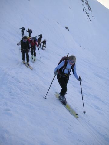 Foto: Wolfgang Lauschensky / Skitour / Zufallspitze – Monte Cevedale : Überschreitung / in der Steilstufe / 29.01.2010 18:06:03