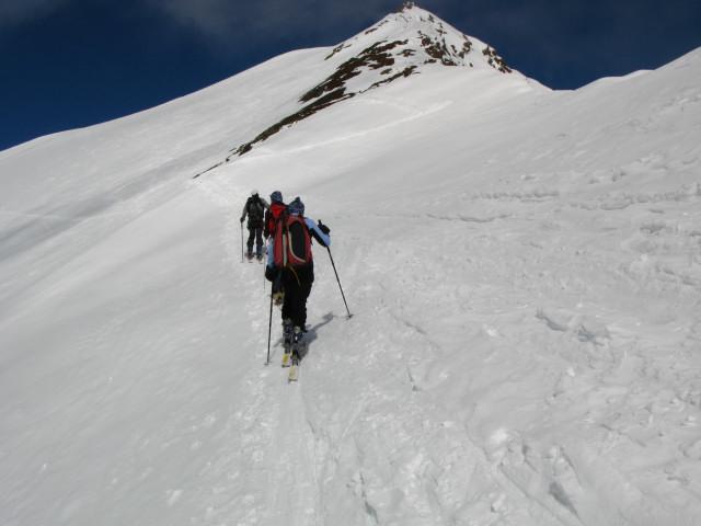 Foto: Wolfgang Lauschensky / Skitour / Zufallspitze – Monte Cevedale : Überschreitung / unter dem SO-Grat der Zufallspitze / 29.01.2010 18:04:48