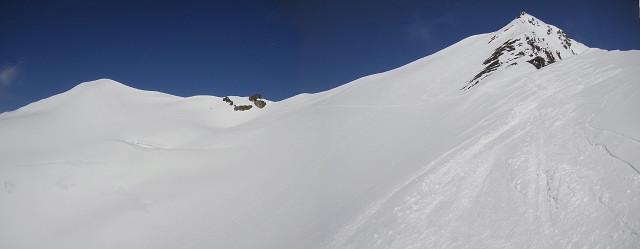 Foto: Wolfgang Lauschensky / Skitour / Zufallspitze – Monte Cevedale : Überschreitung / Cevedale und Zufallspitze von der Südseite / 29.01.2010 18:04:39