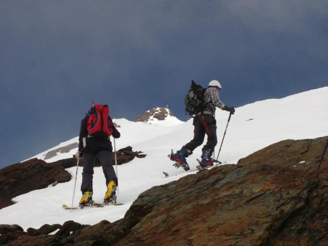 Foto: Wolfgang Lauschensky / Skitour / Zufallspitze – Monte Cevedale : Überschreitung / die letzem Meter vor der Zufallspitze / 29.01.2010 18:04:21