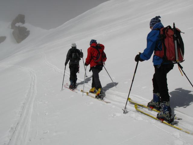 Foto: Wolfgang Lauschensky / Skitour / Zufallspitze – Monte Cevedale : Überschreitung / südseitige Umgehung der Gratfelsen / 29.01.2010 18:03:51
