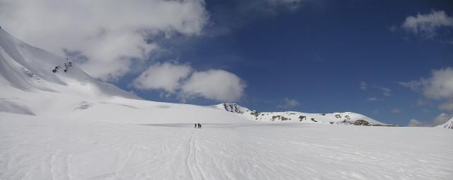 Foto: Wolfgang Lauschensky / Skitour / Zufallspitze – Monte Cevedale : Überschreitung / breiter flacher Zufallferner / 29.01.2010 18:02:29