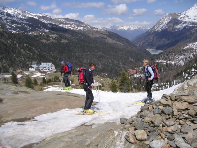 Foto: Wolfgang Lauschensky / Skitour / Zufallspitze – Monte Cevedale : Überschreitung / an der Steilstufe oberhalb der Zufallhütte / 29.01.2010 18:01:54