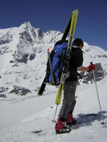 Foto: Wolfgang Lauschensky / Skitour / Johannisberg (3453m) und Hohe Riffl (3338m) / Glocknerblick am Gamsgrubensteig / 28.03.2010 17:29:52