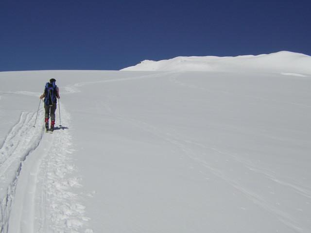 Foto: Wolfgang Lauschensky / Skitour / Johannisberg (3453m) und Hohe Riffl (3338m) / Querung der oberen Pasterze Richtung Hohe Riffl / 28.03.2010 17:27:15