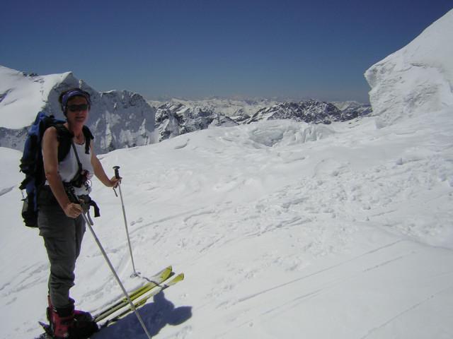 Foto: Wolfgang Lauschensky / Skitour / Johannisberg (3453m) und Hohe Riffl (3338m) / am Gipfelhang der Hohen Riffl / 28.03.2010 17:27:04