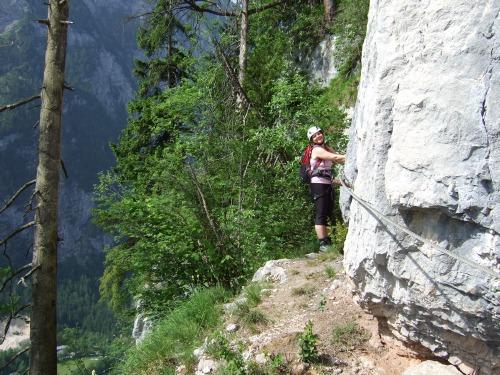 Klettersteig Hallstatt : Mondsee und attersee blick von der drachenwand rock klettersteig
