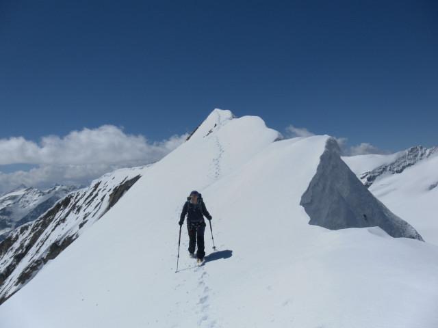 Foto: Wolfgang Lauschensky / Skitour / Mittlerer und Großer Bärenkopf (3358m+3396m) / Südgipfelüberschreitung / 27.05.2014 21:39:07
