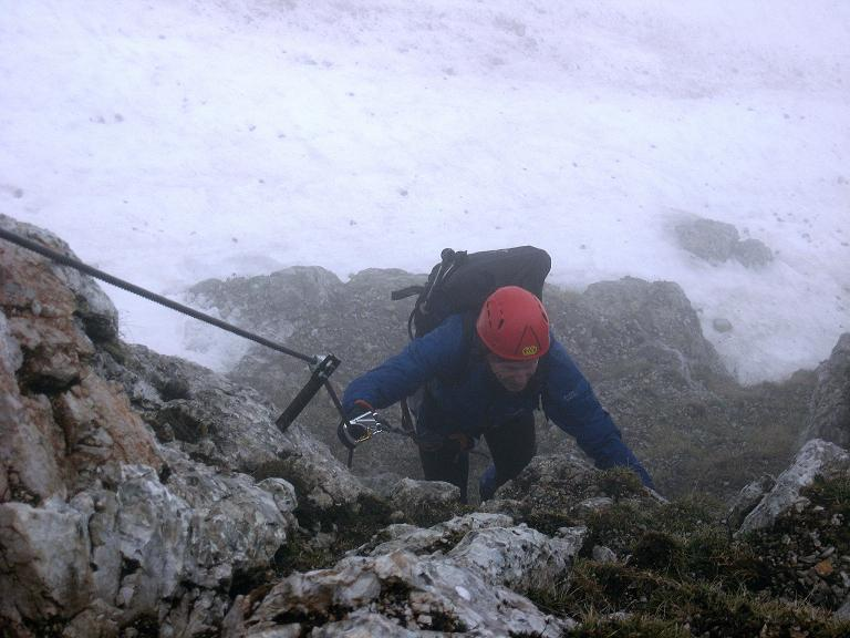 Foto: Andreas Koller / Klettersteigtour / ÖTK-Klettersteig Koschutnikturm neu und alt (2136 m) / Einstieg ÖTK-Klettersteig neu / 16.05.2010 00:36:20