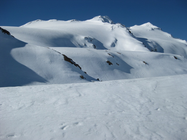 Foto: Wolfgang Lauschensky / Skitour / Östliche Veneziaspitze (3356m) - oder III. Veneziaspitze / Schranferner und Veneziaspitze rechts der Bildmitte / 27.05.2010 15:55:33