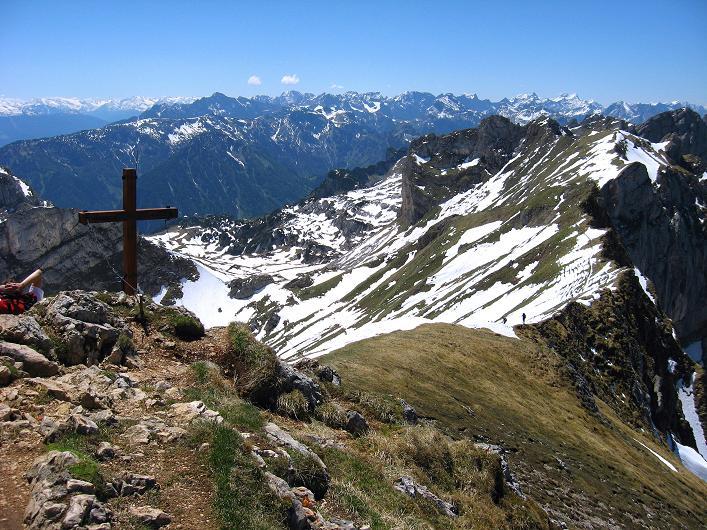 Foto: Andreas Koller / Klettersteigtour / Rosskopf Klettersteig und Rofanspitze (2259 m) / Auf der Rofanspitze / 09.06.2010 02:23:32
