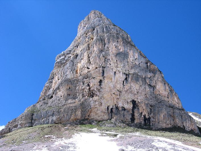 Foto: Andreas Koller / Klettersteigtour / Rosskopf Klettersteig und Rofanspitze (2259 m) / Nochmals der Blick auf den S-Pfeiler des Rosskopf / 09.06.2010 02:18:24