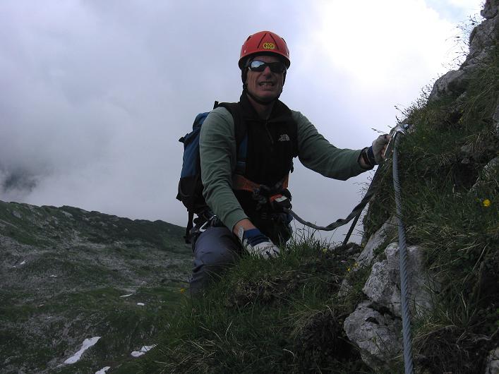 Foto: Andreas Koller / Klettersteigtour / Rosskopf Klettersteig und Rofanspitze (2259 m) / 14.07.2010 14:59:21