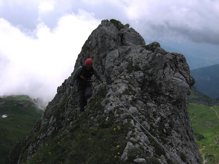 Foto: Andreas Koller / Klettersteigtour / Rosskopf Klettersteig und Rofanspitze (2259 m) / 14.07.2010 14:59:15