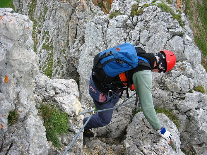 Foto: Andreas Koller / Klettersteigtour / Rosskopf Klettersteig und Rofanspitze (2259 m) / Der Abstieg erfordert ebenfalls Konzentration / 14.07.2010 14:57:57