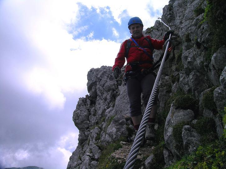 Foto: Andreas Koller / Klettersteigtour / Rosskopf Klettersteig und Rofanspitze (2259 m) / 14.07.2010 14:57:31