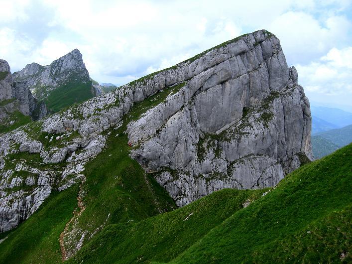 Foto: Andreas Koller / Klettersteigtour / Rosskopf Klettersteig und Rofanspitze (2259 m) / Blick zum Hochiss (2299m) / 14.07.2010 14:57:07