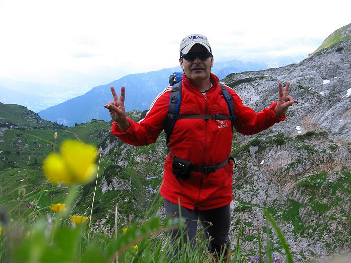 Foto: Andreas Koller / Klettersteigtour / Rosskopf Klettersteig und Rofanspitze (2259 m) / Rückweg auf dem Steig / 14.07.2010 14:55:40
