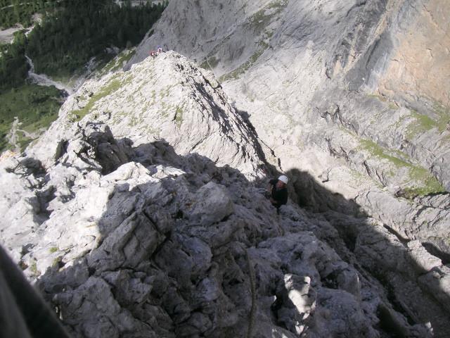 Foto: Wolfgang Lauschensky / Klettertour / Bügeleisenkante – Roter Turm – Ellerturm / zweite Ausweiche in die Schlucht / 17.06.2010 16:50:54