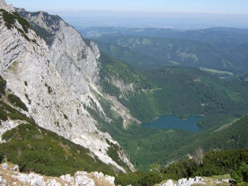 Foto: hofchri / Wandertour / Überschreitung Höllengebirge über Hochleckenhaus (1.574 m) / Hinterer Langbathsee / 30.06.2010 19:32:05
