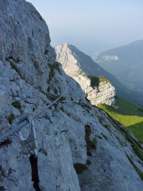 Foto: Manfred Karl / Klettersteig Tour / Haidachstellwand, Hans Obholzer Gedächtnissteig / Blick zum Ebnerjoch / 21.09.2014 20:59:29