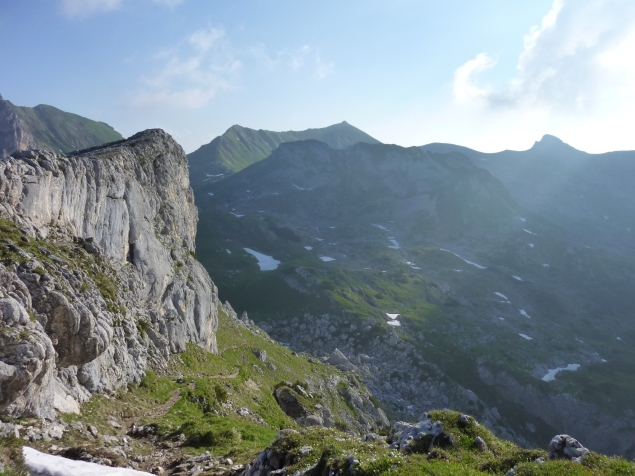 Foto: Manfred Karl / Klettersteig Tour / Haidachstellwand, Hans Obholzer Gedächtnissteig / 21.09.2014 20:58:38