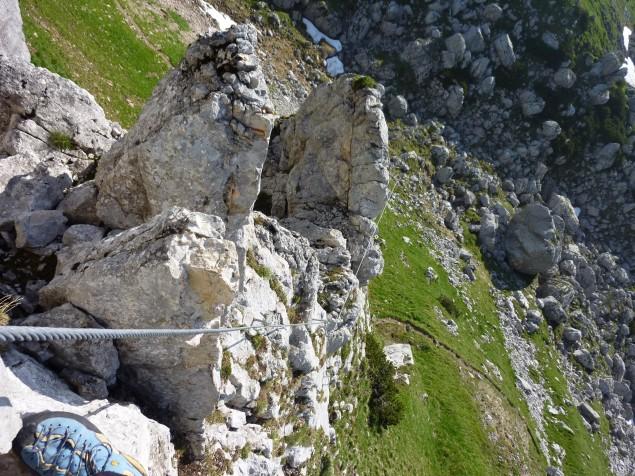 Foto: Manfred Karl / Klettersteig Tour / Haidachstellwand, Hans Obholzer Gedächtnissteig / 23.11.2012 22:43:21