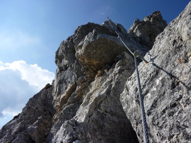 Foto: Manfred Karl / Klettersteig Tour / Haidachstellwand, Hans Obholzer Gedächtnissteig / 23.11.2012 22:42:17