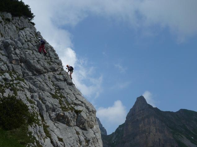 Foto: Manfred Karl / Klettersteig Tour / Haidachstellwand, Hans Obholzer Gedächtnissteig / 27.09.2012 21:59:29