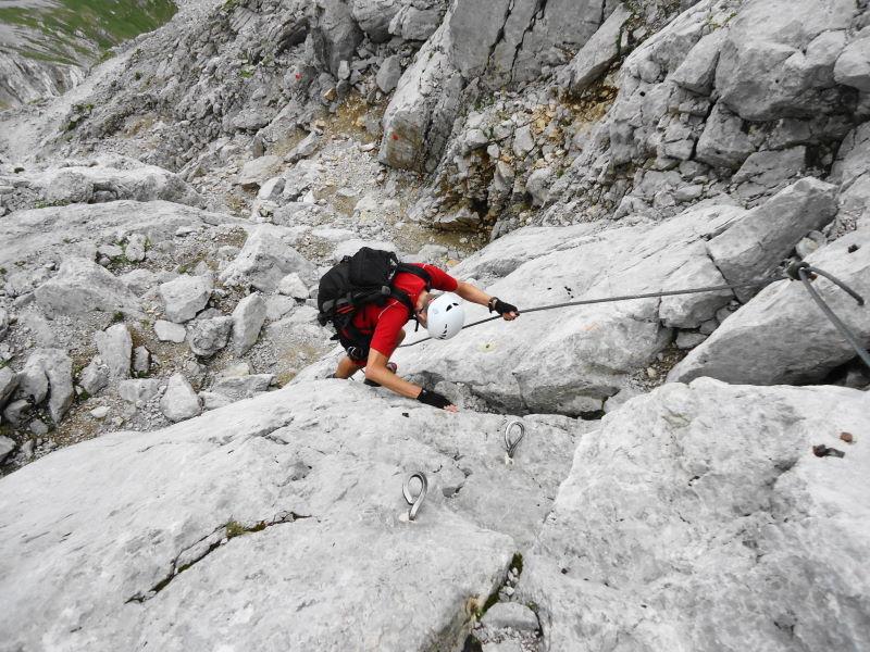 Klettersteig Ellmauer Halt : Klettersteig zum ellmauer halt wilder kaiser m alpin