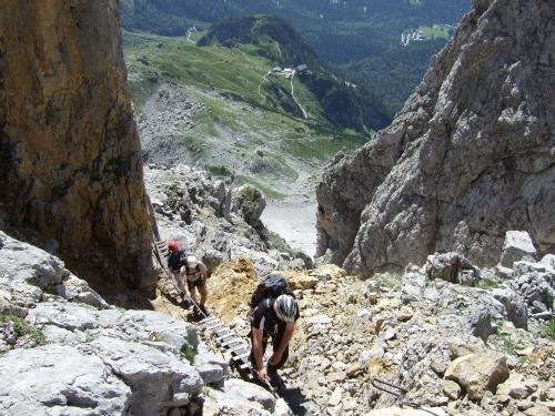 Klettersteig Ellmauer Halt : Kurz und knackig der klamml klettersteig