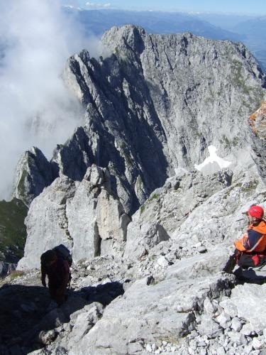 """Foto: hofchri / Klettersteigtour / Ellmauer Halt (2.344 m) über """"Gamsängersteig"""" / die letzten Meter / 12.08.2010 20:34:01"""