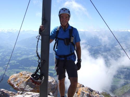 """Foto: hofchri / Klettersteigtour / Ellmauer Halt (2.344 m) über """"Gamsängersteig"""" / am Ellmauer Halt / 12.08.2010 20:34:16"""