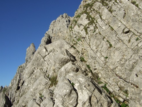 """Foto: hofchri / Klettersteigtour / Ellmauer Halt (2.344 m) über """"Gamsängersteig"""" / immer wieder kurze Seilabschnitte / 12.08.2010 20:28:52"""
