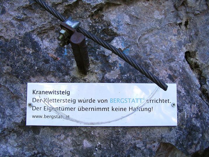 Foto: Andreas Koller / Klettersteigtour / Klettersteig Kranewitsteig (950m) / 09.09.2010 01:25:27