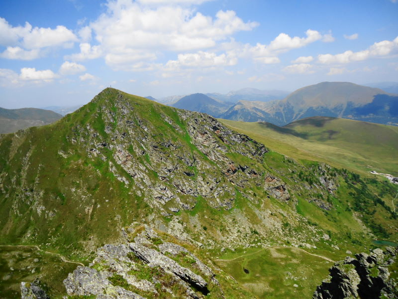 Foto: Günter Siegl / Klettersteigtour / Falken Klettersteig (D) / Blick vom Rödresnock auf den Falkert und den Falken-Klettersteig / 07.09.2015 20:23:59