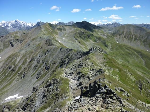 Foto: Manfred Karl / Wandertour / Gaispleiskopf, 2718 m / Blick zum Ötztaler Hauptkamm / 26.09.2010 20:12:23