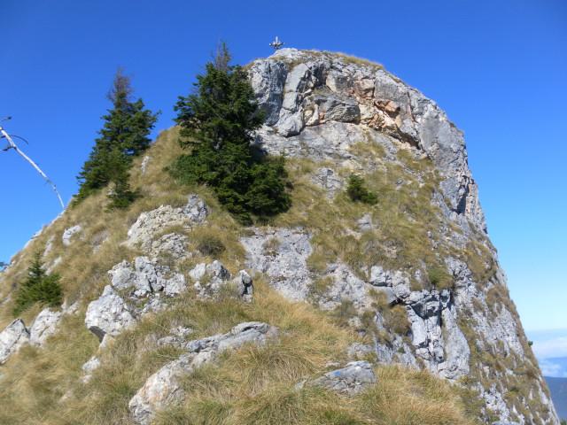 Foto: Wolfgang Lauschensky / Wandertour / Törlspitz  1589m / steiler Gipfelfels / 13.10.2010 18:55:46