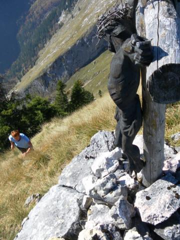Foto: Wolfgang Lauschensky / Wandertour / Törlspitz  1589m / letzte steile Meter zum Gipfel / 13.10.2010 18:55:19