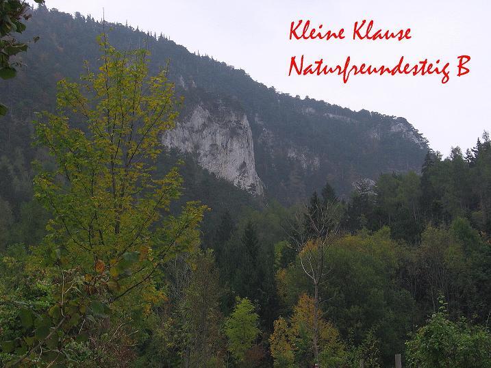 Foto: Andreas Koller / Klettersteigtour / Auf dem Naturfreundesteig durch die Kleine Klause (1002m) / 17.10.2010 17:50:29