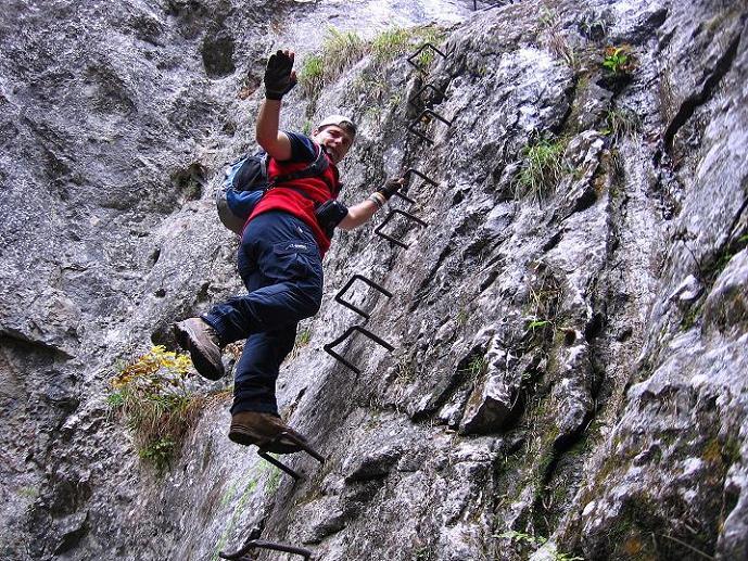 Foto: Andreas Koller / Klettersteigtour / Auf dem Naturfreundesteig durch die Kleine Klause (1002m) / 17.10.2010 17:48:15
